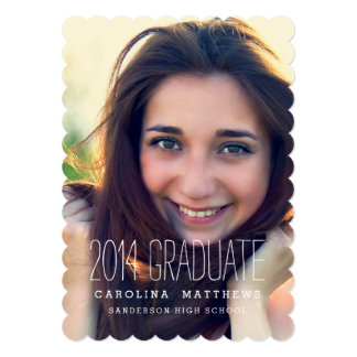 "Modern Photo High School Graduation Party 5"" X 7"" Invitation Card"