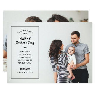 Modern Photo Overlay Father's Day Card for Husband