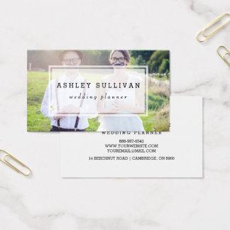 Modern Photo Overlay | Wedding Business Card