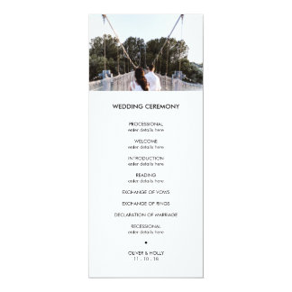 Modern photo wedding program