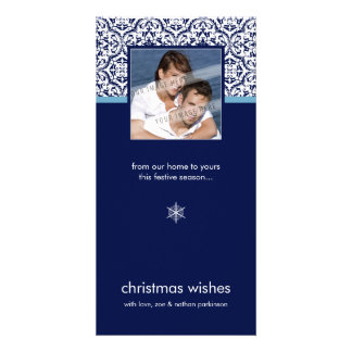 MODERN PHOTOCARD :: simply damask 3 Personalized Photo Card