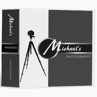 "Modern Photographer Gray 2"" Portfolio Binder"