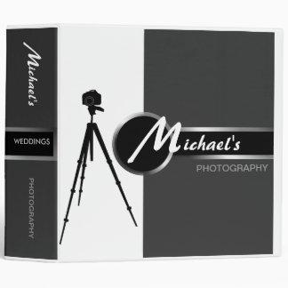 "Modern Photographer Gray 2"" Portfolio Binder"