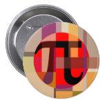 Modern Pi Composition, Geometric 3 Inch Round Button