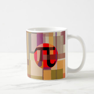 Modern Pi Composition, Geometric Classic White Coffee Mug