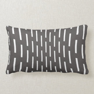 modern pillow abstract pattern gray and white