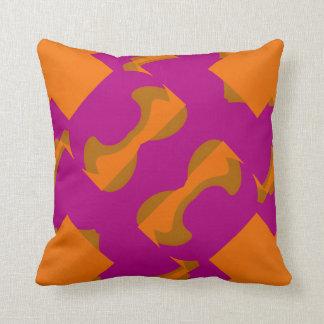 Modern Pillow-Home Decor  Fuchsia/Orange/Green Throw Pillow