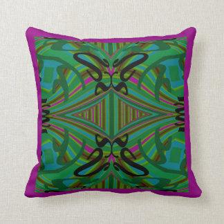 Modern Pillow-Home Green/Black/Blue/Fuchsia Throw Pillow