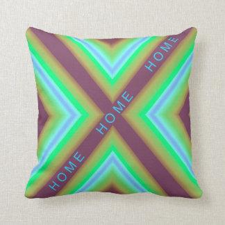 Modern Pillow-Home  -Green/Blue/Aqua/Tan/Purple Throw Pillow