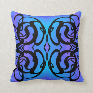 Modern Pillow-Home -Lavender/Blue/Turquoise/Black Throw Pillow