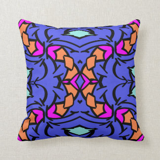 Modern Pillow-Home  -Pink/Orange/Aqua/Blue/Black Throw Pillow