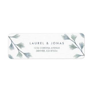 Modern Pine Green + White Return Address Labels