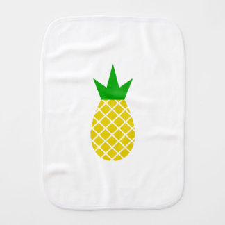 Modern pineapple design burp cloth