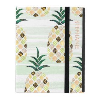 Modern Pineapple Pattern iPad Case