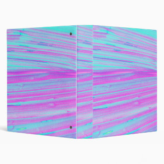 Modern Pink and Teal Paint Stripes 3 Ring Binders