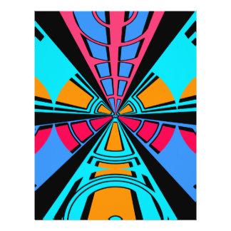 Modern pink blue semi-circle design flyer