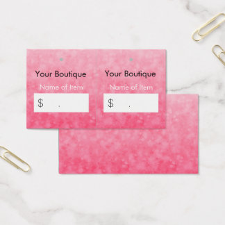 Modern Pink Boutique Hang Tags Soft and Chic