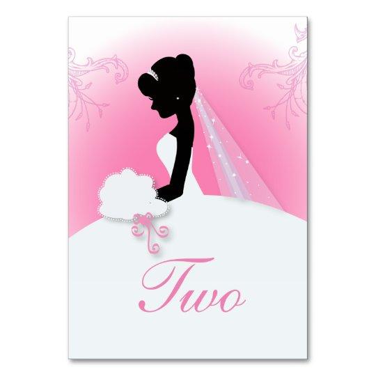 modern pink bride silhouette Bridal Shower Card