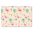 Modern pink colourful watercolor tropical flowers tissue paper