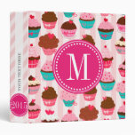 Modern Pink Cupcakes Monogrammed Personalized