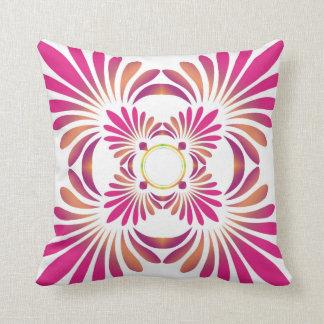 Modern Pink Floral Throw Pillow