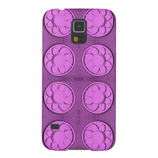 Modern pink flowers galaxy s5 cases