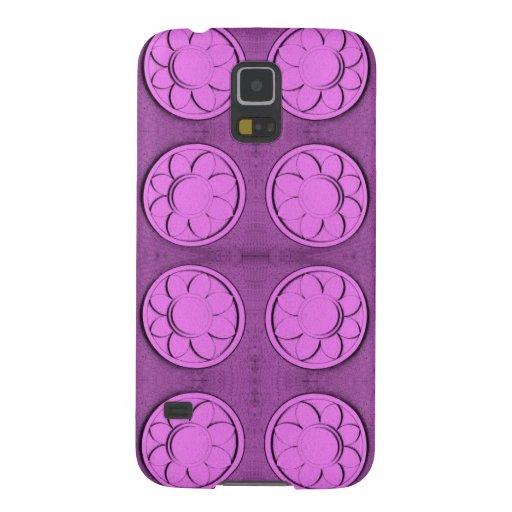 Modern pink flowers samsung galaxy nexus case