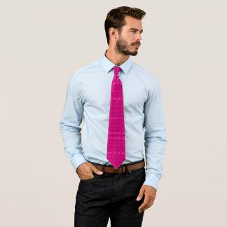 Modern Pink Geometric Floral Pattern Designer Tie