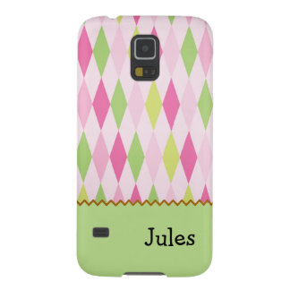 Modern Pink & Green Design Phone Case