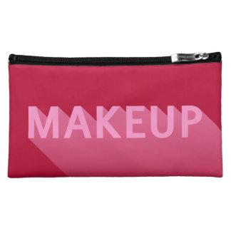 Modern Pink Makeup Long Shadow Typography Cosmetic Bag