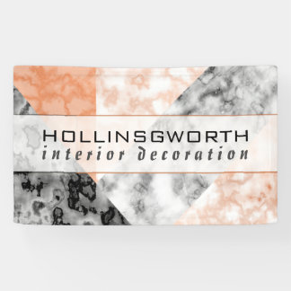 Modern Pink Marble Collage Pattern Business Banner
