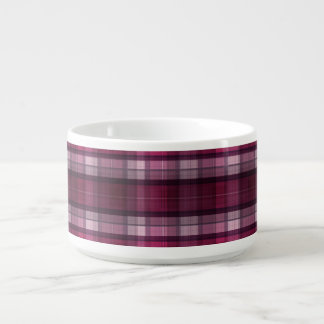 Modern Pink Plaid Girl's Chili Bowl