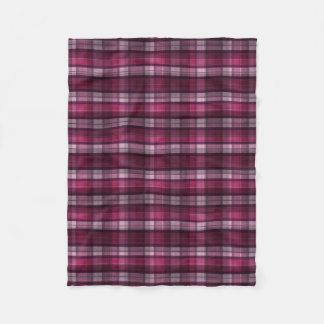 Modern Pink Plaid Girl's Fleece Blanket