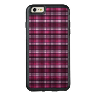 Modern Pink Plaid Girl's OtterBox iPhone 6/6s Plus Case