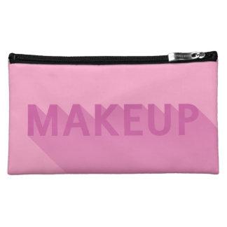 Modern Pink Purple Makeup Typography Makeup Bag