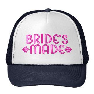 Modern Pink Typography Bride's Made 2 Trucker Hat