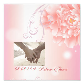 modern pink vintage Peony floral anniversary Photograph