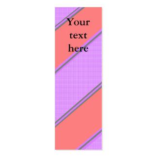 Modern pink violet diagonal stripes business cards