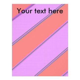 Modern pink violet diagonal stripes flyers