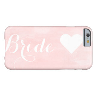 Modern pink watercolor custom bride monogram barely there iPhone 6 case
