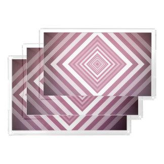 Modern Pink & White Gradation Squares Acrylic Tray