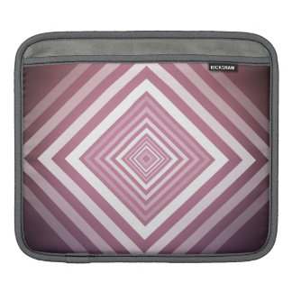 Modern Pink & White Gradation Squares iPad Sleeve
