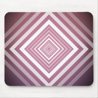 Modern Pink & White Gradation Squares Mouse Pad