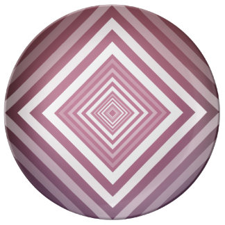 Modern Pink & White Gradation Squares Plate