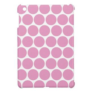 MODERN PINK, WHITE POLKA DOTS iPad MINI COVER