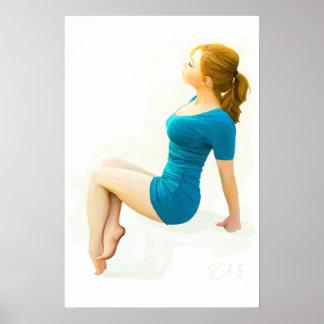 Modern Pinup girl - Poster