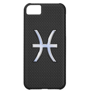 Modern Pisces Zodiac Black Snake Skin style Cover For iPhone 5C