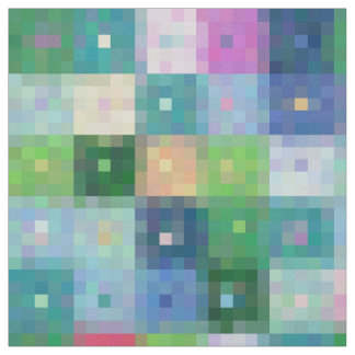 Modern pixel block color quilt patches fabric