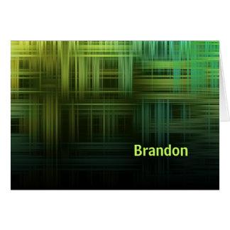 Modern Plaid Card