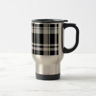 Modern Plaid Travel Mug